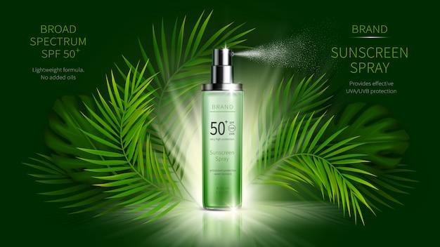 Ochrona Przeciwsłoneczna Kosmetyczne Wektor Realistyczne Reklamy Reklamowe Darmowych Wektorów