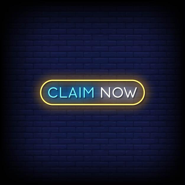 Odbierz Teraz Tekst W Stylu Neonów Premium Wektorów