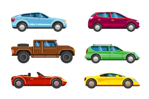 Odbiór pojazdu transport miejski w mieście auto Premium Wektorów