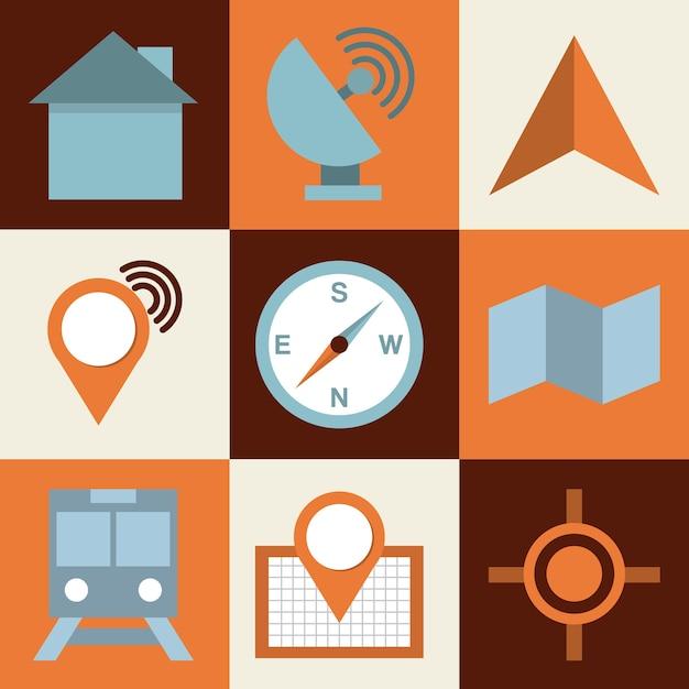 Odizolowywający Retro Ikona Projekt, Wektorowa Ilustraci Eps10 Grafika Premium Wektorów