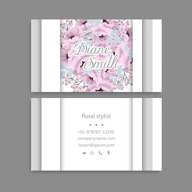 Odwiedź kartę z kwiatami Darmowych Wektorów