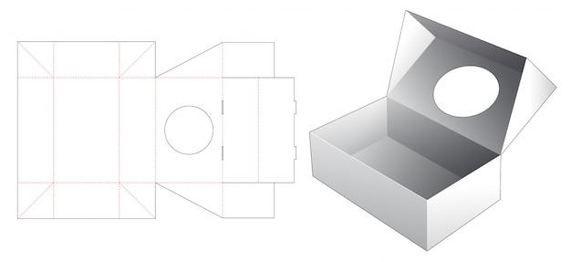 Odwróć Pudełko Z Wykrojnikiem W Kształcie Koła Premium Wektorów