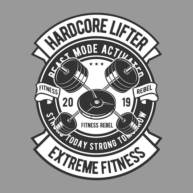 Odznaka hardcore lifter Premium Wektorów