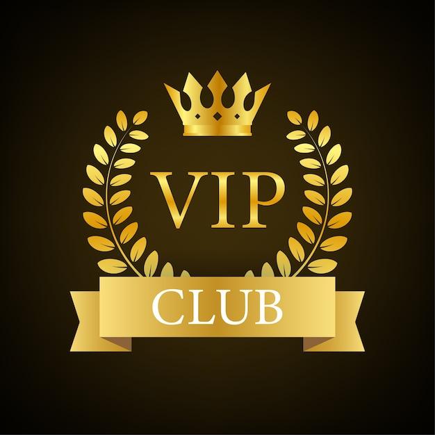 Odznaka Klubu Vip Premium Wektorów