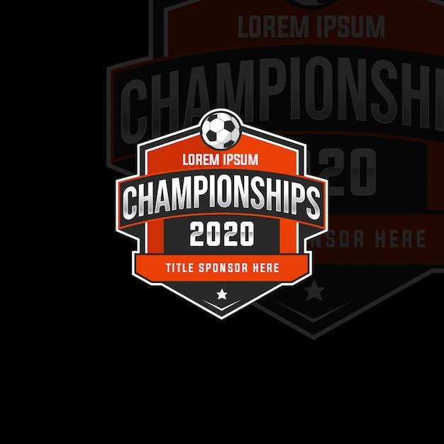Odznaka Mistrzostw Sport 2020 Premium Wektorów