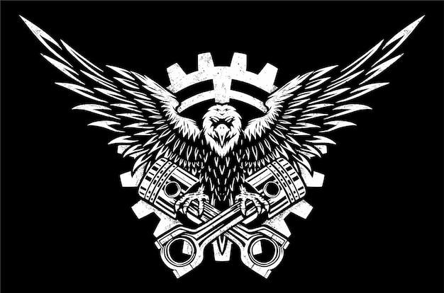 Odznaka Orła Premium Wektorów