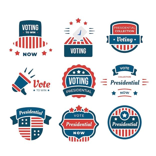 Odznaki Do Głosowania I Pakiet Naklejek Darmowych Wektorów