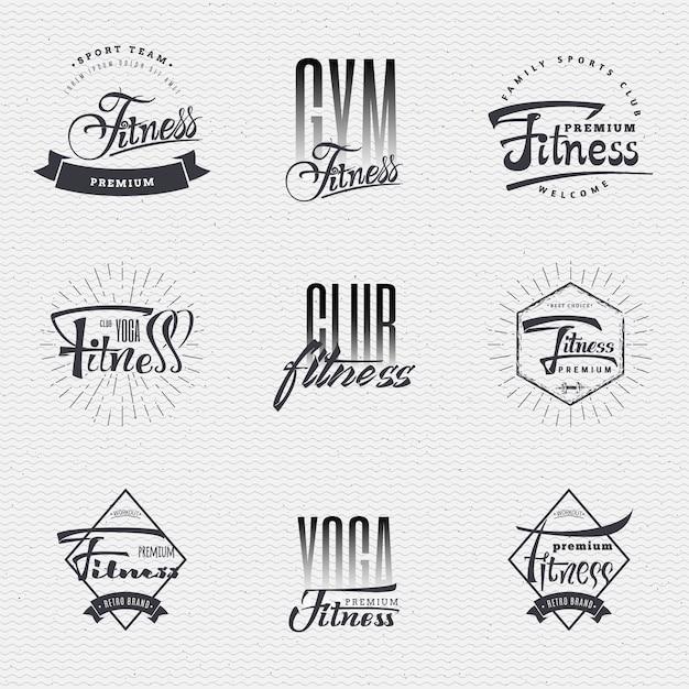 Odznaki fitness Premium Wektorów