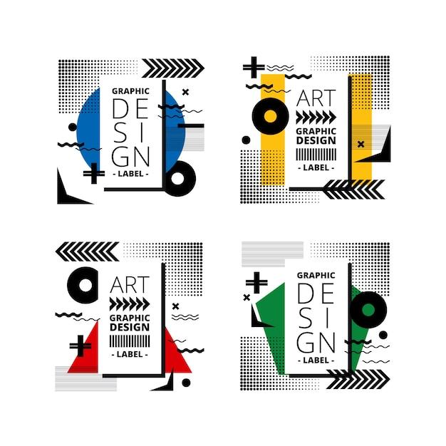 Odznaki Graficzne W Geometrycznym Stylu Darmowych Wektorów