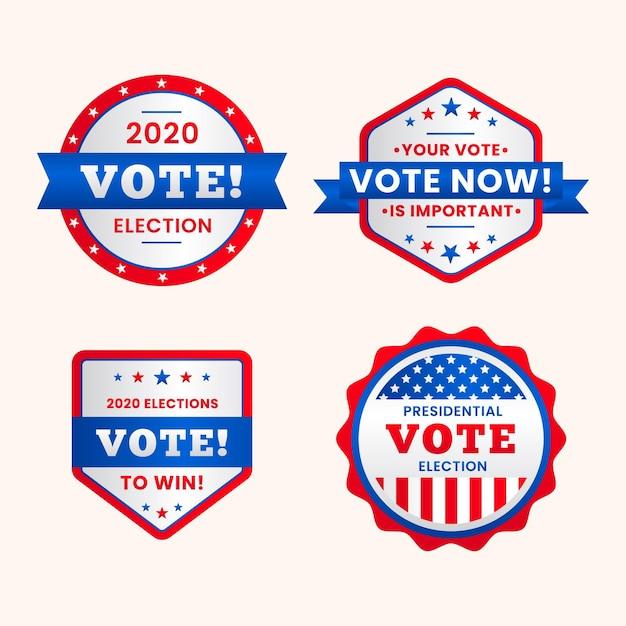 Odznaki I Naklejki Do Głosowania Darmowych Wektorów