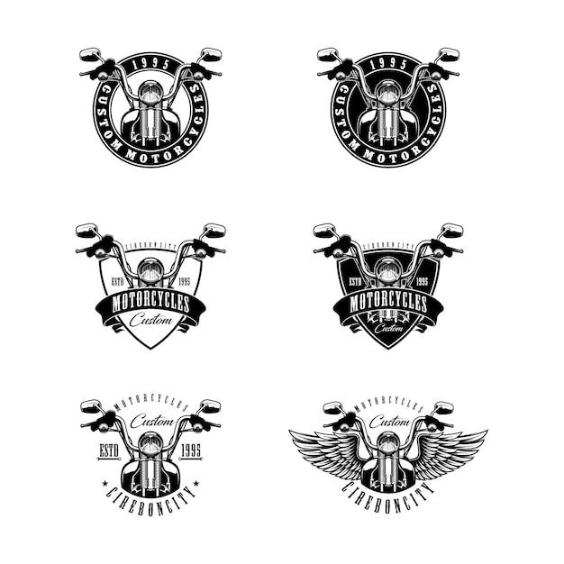 Odznaki motocyklowe Premium Wektorów