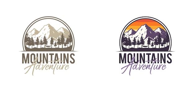 Odznaki Mountain Adventure Premium Wektorów