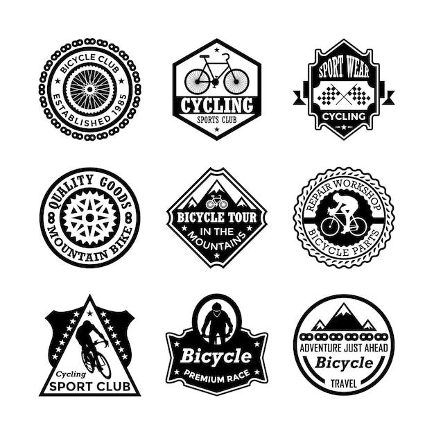 Odznaki Rowerowe Premium Wektorów