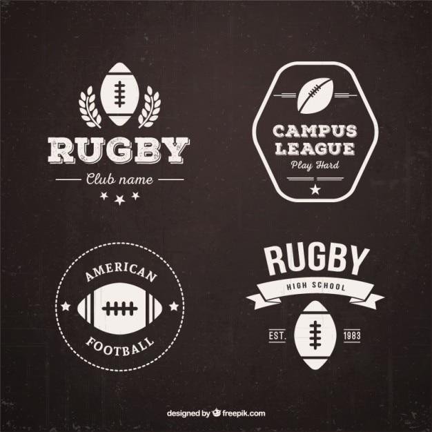Odznaki Rugby Retro Darmowych Wektorów