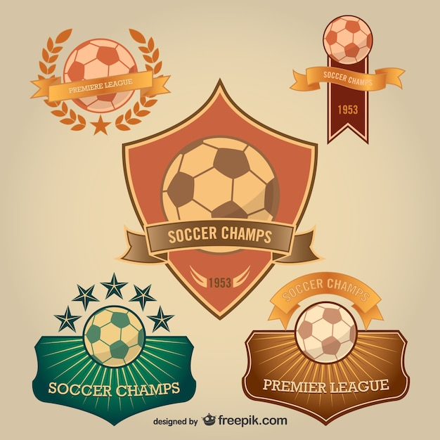 Odznaki Soccer Do Pobrania Za Darmo Darmowych Wektorów