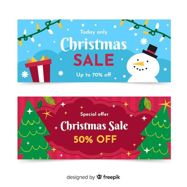 Oferta specjalna świąteczna wyprzedaż transparent Darmowych Wektorów
