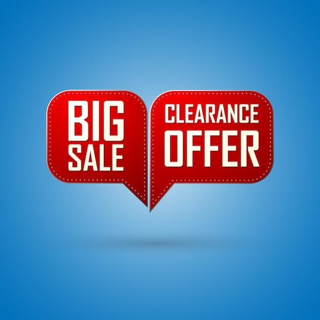 Oferta sprzedaży red bubble i duży projekt sprzedaży Premium Wektorów