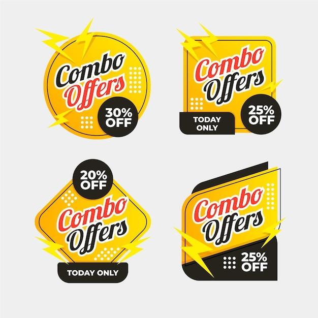 Oferty Combo - Etykiety Premium Wektorów