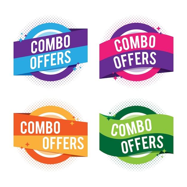 Oferty Combo - Koncepcja Etykiet Premium Wektorów