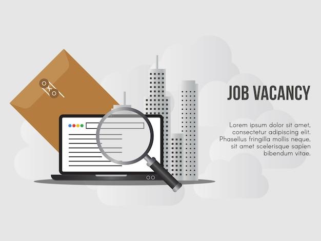 Oferty pracy pojęcie ilustracja wektor szablon projektu Premium Wektorów