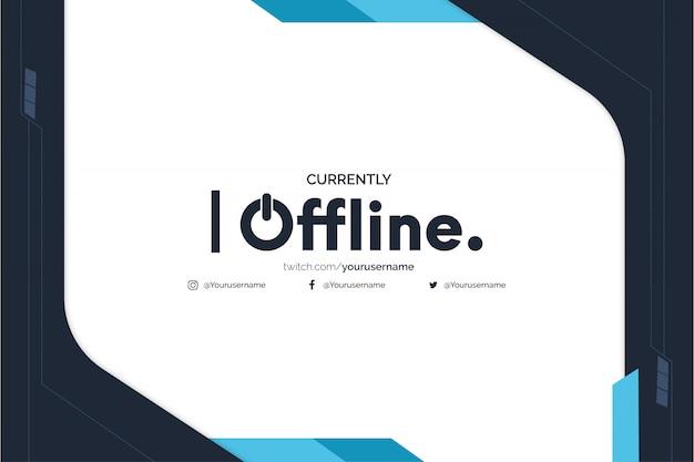 Offline Tło Transparent Twitch Z Szablonem Abstrakcyjnych Kształtów Niebieskich Darmowych Wektorów