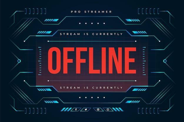 Offline Twitch Banner Darmowych Wektorów