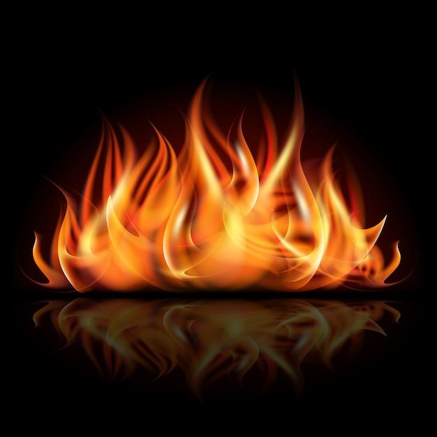 Ogień W Ciemności. Premium Wektorów