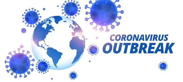 Ogólnoświatowy Projekt Transparentu Wirusa Pandemii Koronawirusa Covid-19 Darmowych Wektorów