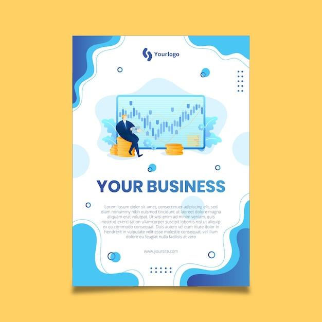 Ogólny Plakat Biznesowy Darmowych Wektorów