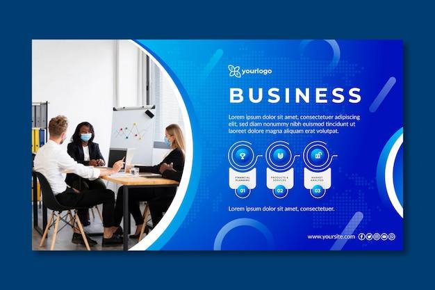 Ogólny Szablon Transparent Biznesowy Premium Wektorów