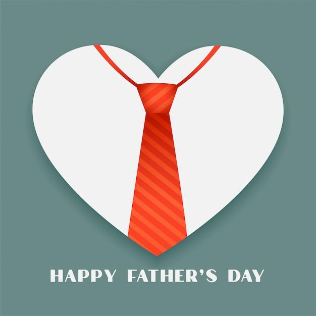 Ojca Dnia Pojęcia Tło Z Krawatem I Sercem Darmowych Wektorów
