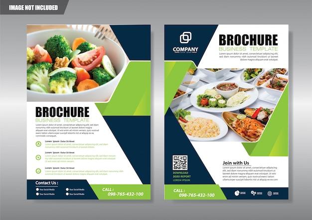 Okładka Broszury Lub Rocznego Raportu Broszury Premium Wektorów