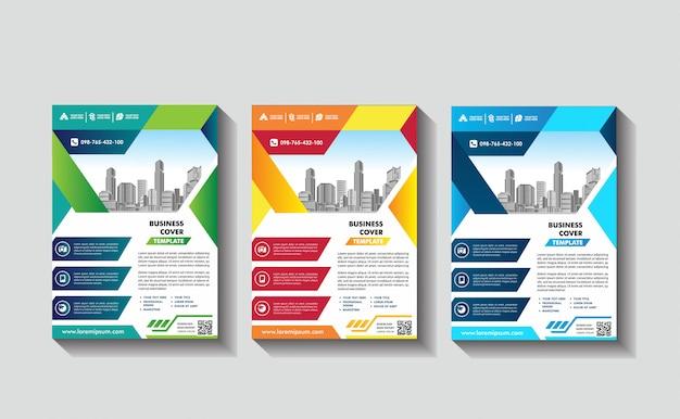 Okładka Plakat A4 Katalog Książka Broszura Ulotka Układ Raport Roczny Szablon Biznesowy Premium Wektorów