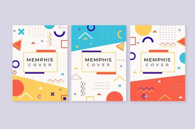 Okładki Projektowe Memphis Darmowych Wektorów