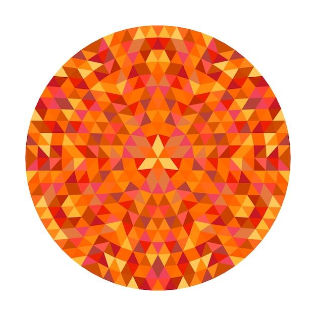 Okrąg Geometryczny Trójkąt Mandali Projekt - Symetryczne Wektora Wzór Sztuki Z Trójkątów Kolor Premium Wektorów