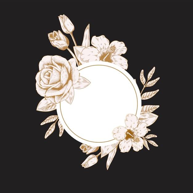 Okrągłe etykiety kwiatowe Darmowych Wektorów
