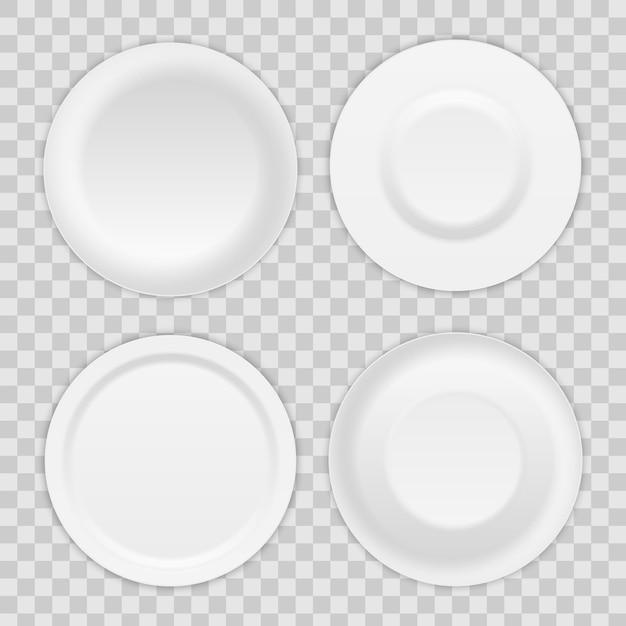 Okrągłe naczynie, porcelanowe naczynie na zupę, miska. Premium Wektorów