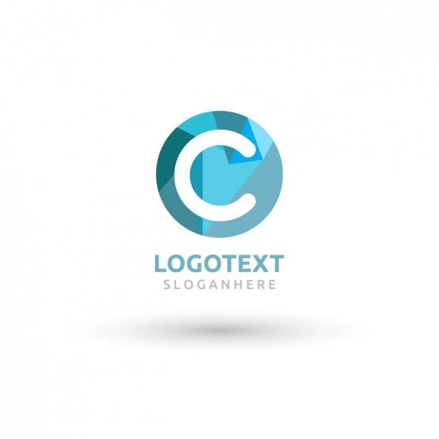 Okrągłe Niebieskie Logo Z Wielkim C Darmowych Wektorów