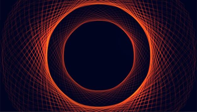 Okrągłe, świecące Linie Przypominają Tło Iskry Darmowych Wektorów