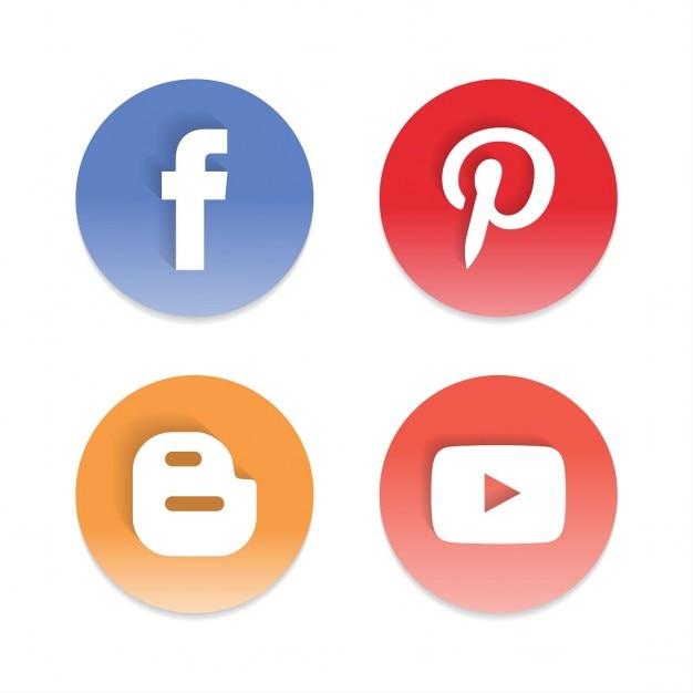 Okrągły społecznościowy Darmowych Wektorów