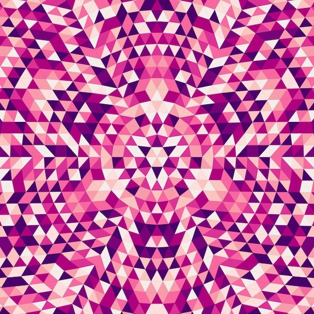 Okrągły Streszczenie Geometryczne Trójkąta Mandala Tła - Symetryczne Wektora Wzór Projektu Z Kolorowych Trójkątów Darmowych Wektorów
