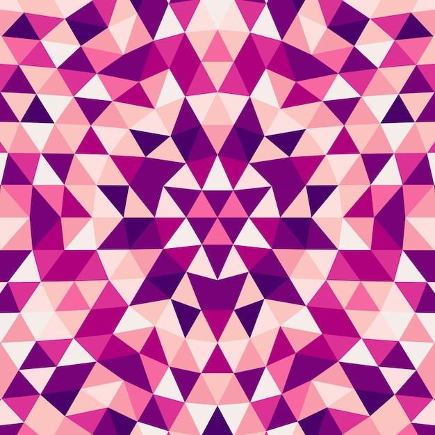 Okrągły Streszczenie Geometryczny Trójkąt Kalejdoskop Mandala Tło - Wektor Wzór Grafiki Z Trójkątów Kolorów Darmowych Wektorów