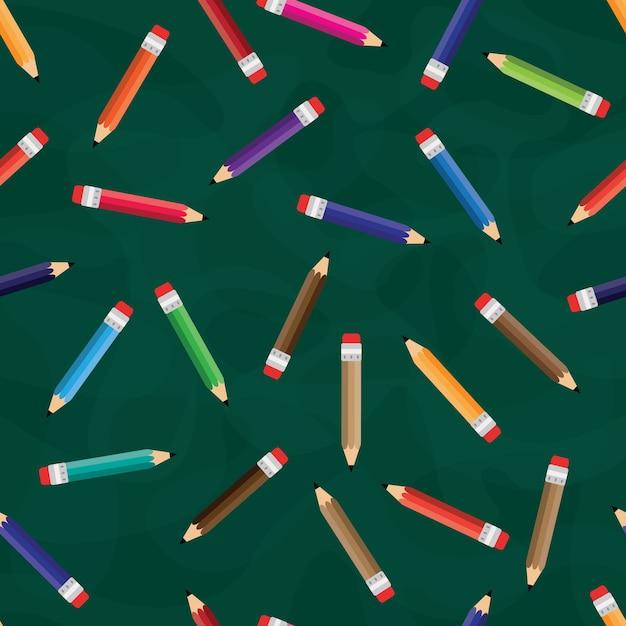 Ołówek Bez Szwu Deseń Premium Wektorów