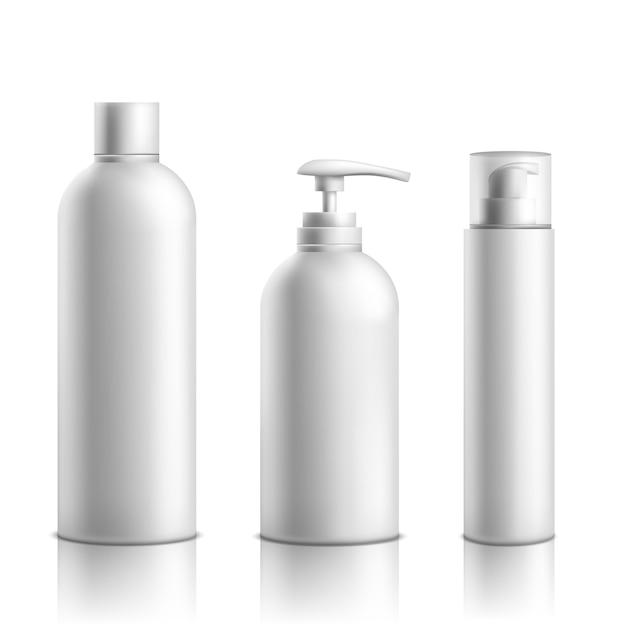 Opakowania linii kosmetyków do pielęgnacji skóry Darmowych Wektorów