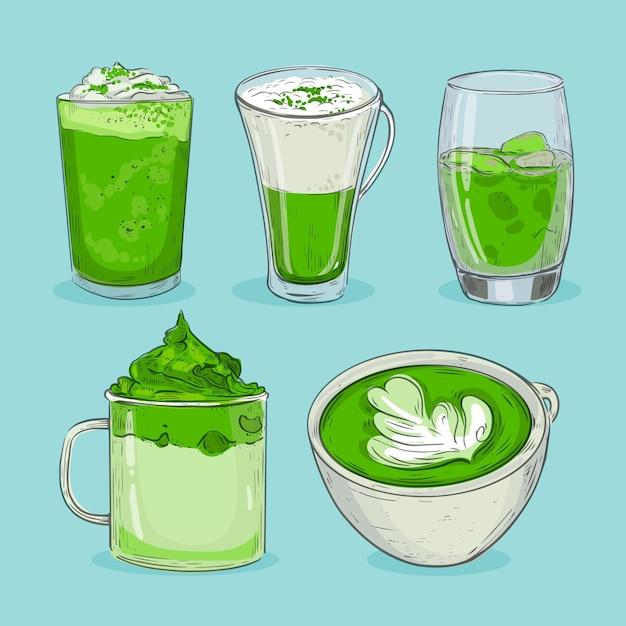 Opakowanie Herbaty Matcha Darmowych Wektorów