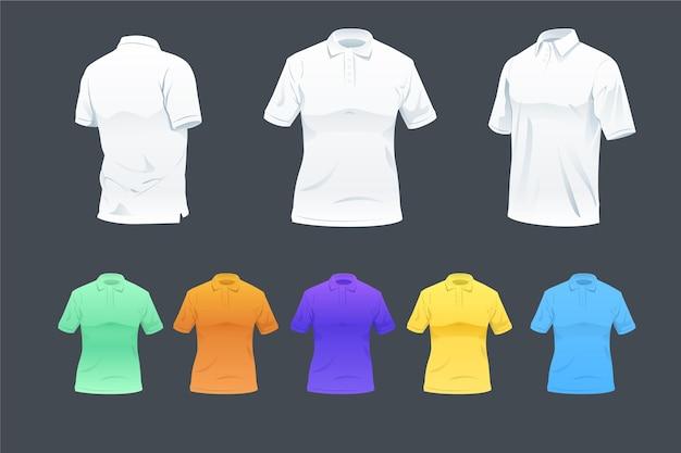 Opakowanie Koszulki Polo Darmowych Wektorów