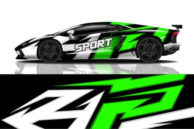 Opakowanie Na Samochód Sportowy Premium Wektorów