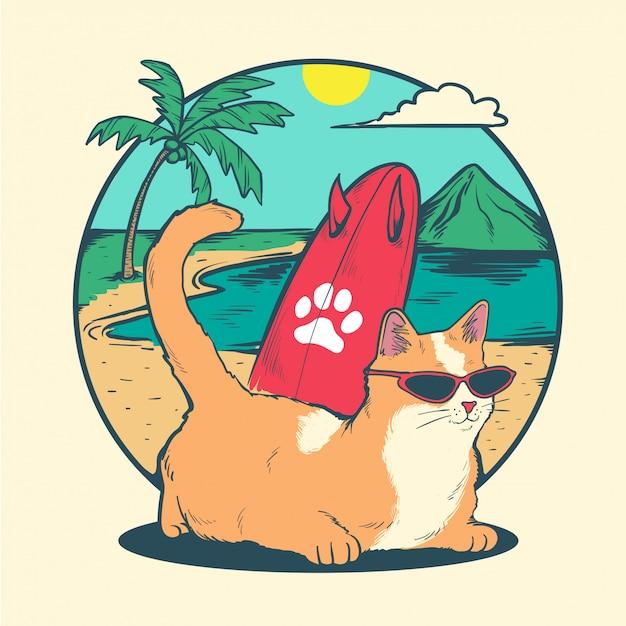 Opalanie Kotów Premium Wektorów