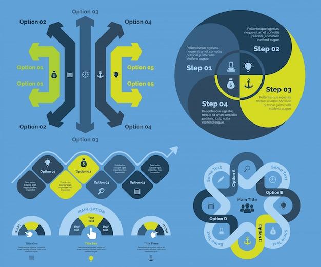 Opcja dla diagramu biznesowego Darmowych Wektorów