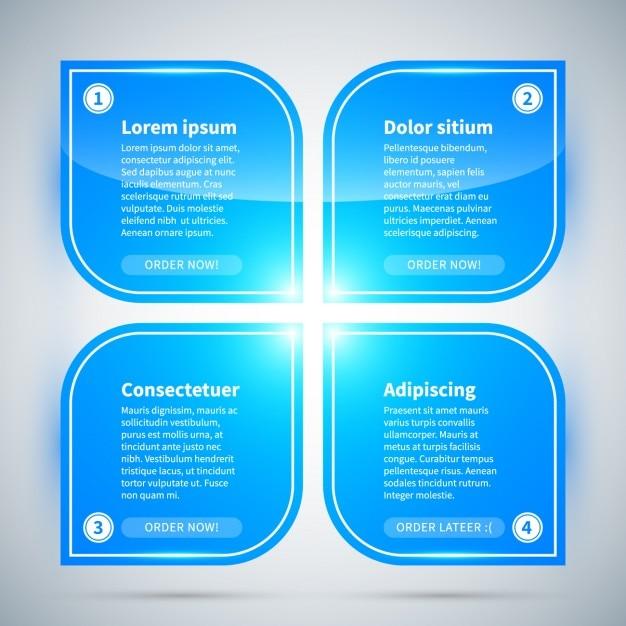 Opcje Niebieski Infographic Darmowych Wektorów
